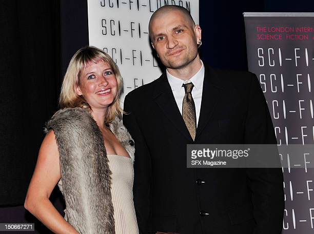 Authors Lauren Beukes and China Mieville at the Arthur C Clarke Awards in London on April 27 2011