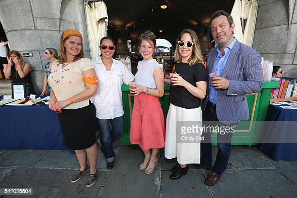 Authors Leslie Pariseau and Talia Baiocchi and Adam Sachs SAVEUR EditorInChief attend The 7th Annual Saveur Summer Cookout at Boat Basin Cafe on June...