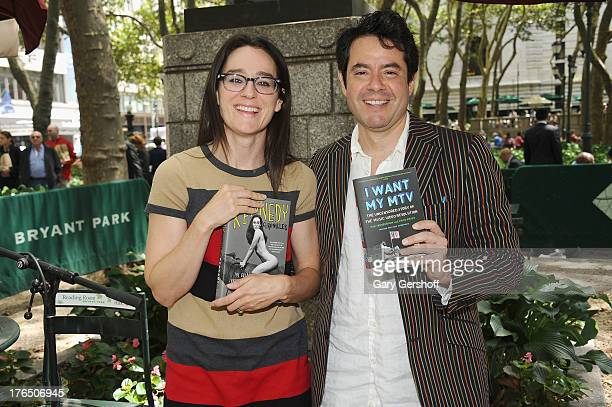 Authors Lisa Kennedy Montgomery and Rob Tannenbaum attend Word for Word Author 2013 at The Bryant Park Reading Room on August 14 2013 in New York City