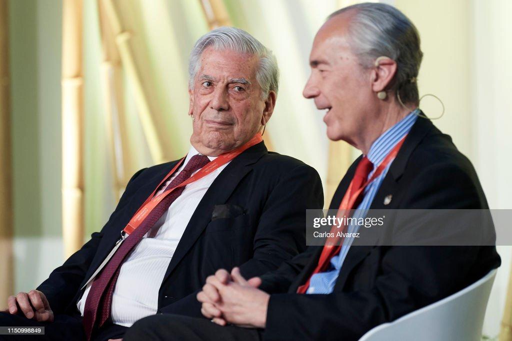 """ESP: Mario Vargas Llosa Attends """"Nobel Prize Dialogue Madrid 2019"""""""