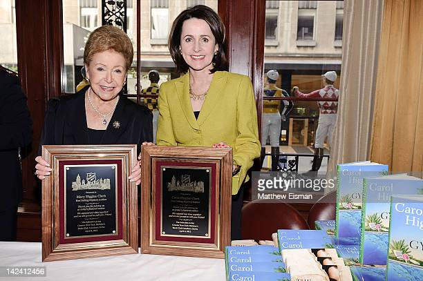 Authors Mary Higgins Clark and Carol Higgins Clark attend the Salvation Army's Book Club Luncheon at Club 21 on April 4 2012 in New York City