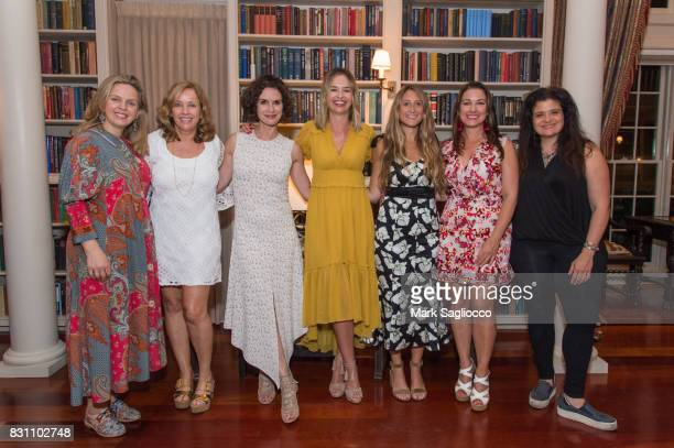 Authors Robyn Lea Laurie Gelman Elizabeth Vargas Marisa Hermer Jessica Siskin Annie Falk and Alex Guarnaschelli attend Hamptons Magazine's Private...