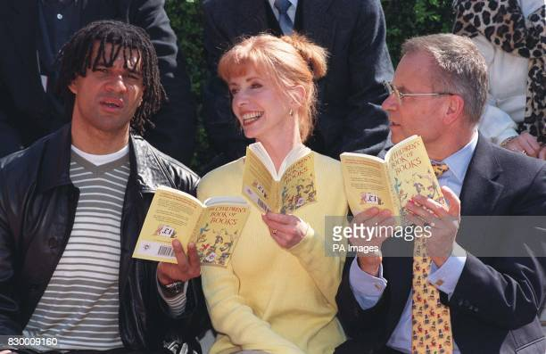 Authors Ruud Gullit Jane Asher and Lord Archer read The Children's Book of Books in London today published in celebration of World Book Day Photo by...