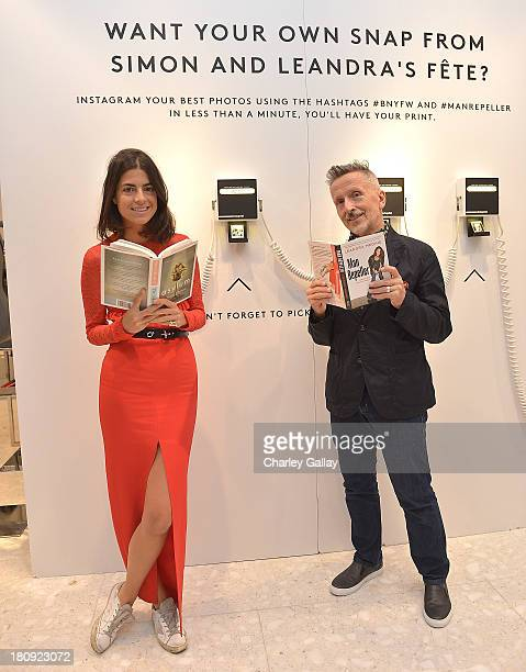 Authors Simon Doonan and Leandra Medine attend Barneys New York Cocktail Event with Simon Doonan and 'Man Repeller' Leandra Medine celebrating their...