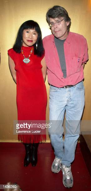 Authors Stephen King and Amy Tan appear for the 2002 New Yorker Festival September 28 at the Bowery Ballroom in New York City.