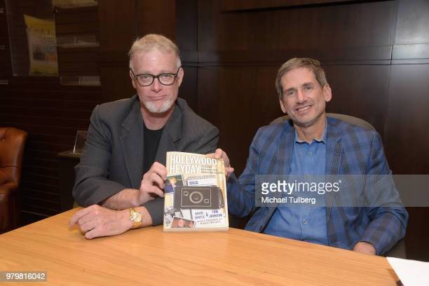 Authors Tim Johnson and David Fantle attend a signing event for their book 'Hollywood Heyday' at Barnes Noble at The Grove on June 20 2018 in Los...