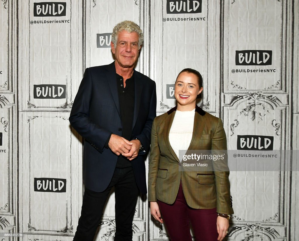 Author/TV personality Anthony Bourdain and The Balvenie ambassador for East Coast America Gemma L Paterson visit Build to discuss the Balvenie's 'Raw Craft' at Build Studio on October 30, 2017 in New York City.