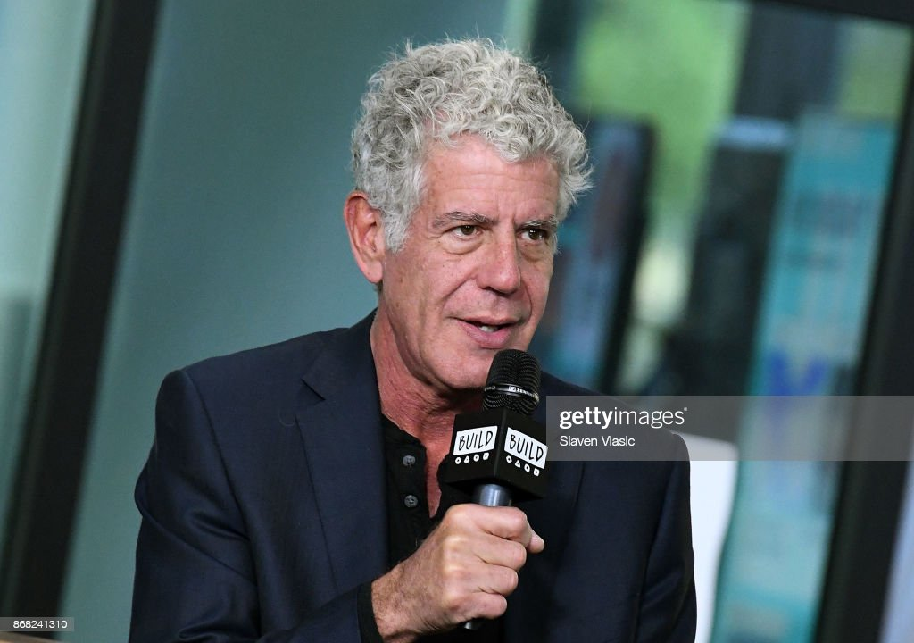 Author/TV personality Anthony Bourdain visits Build to discuss the Balvenie's 'Raw Craft' at Build Studio on October 30, 2017 in New York City.