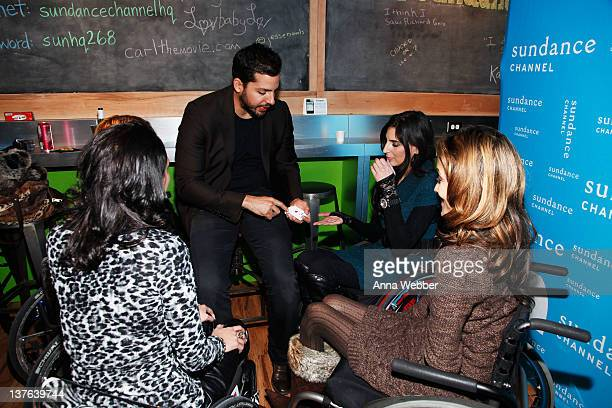 Auti Angel David Blaine Mia Schaikewitz and Angela Rockwood attend the Sundance Channel Party at 268 Main St on January 23 2012 in Park City Utah
