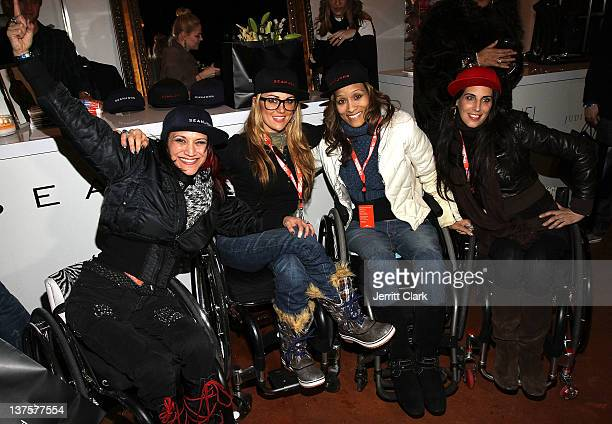 Auti Angel Tiphany Adams Angela Rockwood and Mia Schaikewitz Of Push Girls attend the Talent Resources Suite onJanuary 22 2012 in Park City Utah