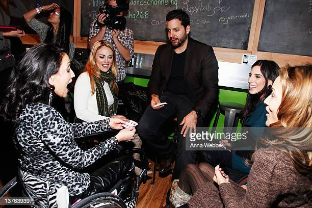 Auti Angel Tiphany Adams David Blaine Mia Schaikewitz and Angela Rockwood attend the Sundance Channel Party at 268 Main St on January 23 2012 in Park...