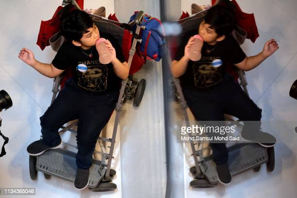 Autistic child attends the World Autism Awareness Day 2019 celebrations on April 2 2019 in Kuala Lumpur Malaysia More than 200 autistic children...