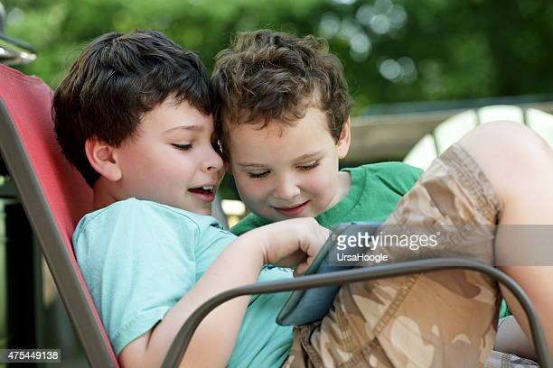 Autistic children share tablet experience