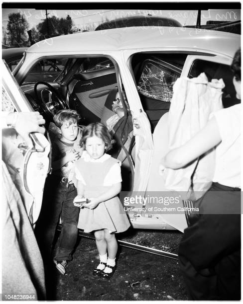Auto accident 28 March 1952 Mrs Lorraine Raysinger driver of carRichard Raysinger 6Jo Anne Raysinger 4 1/2