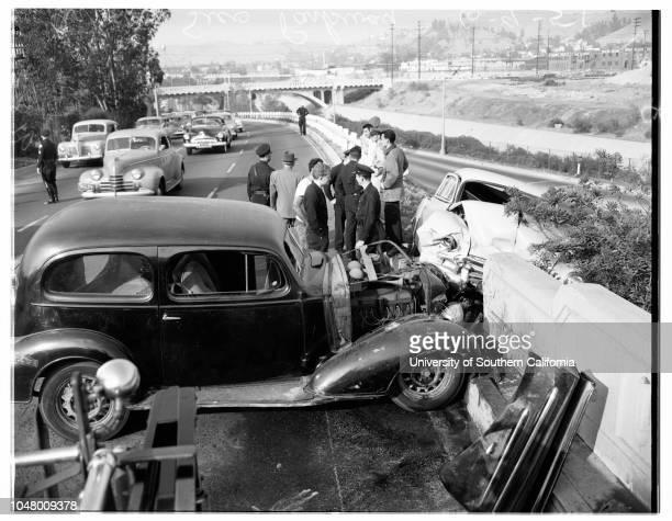 Auto accident -- Arroyo Seco Parkway, Juen 9, 1951..