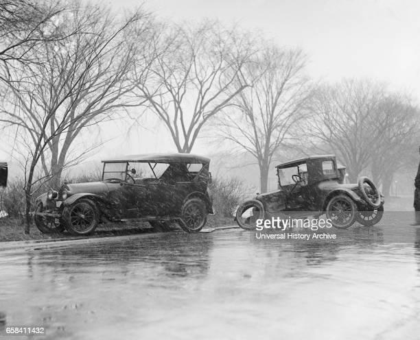 Auto Accident in Rain, Washington DC, USA, National Photo
