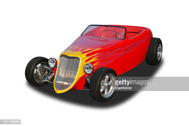 auto car - 1933 roadster hot rod - hot rod car stock photos and pictures