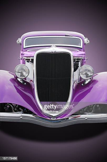 Auto Car - 1934 Ford Hot Rod Front Purple