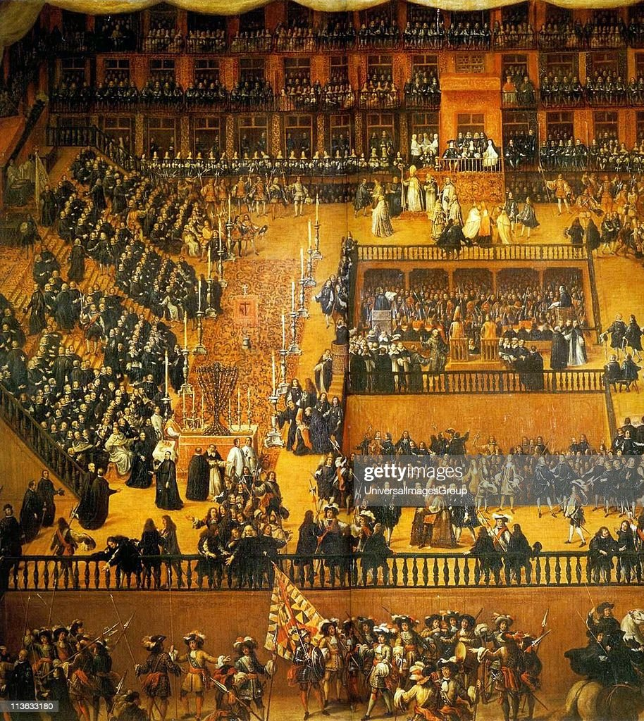Universal Auto Plaza >> Auto de Fe, painted by Francisco Ricci in 1683. A scene in the Plaza... News Photo | Getty Images