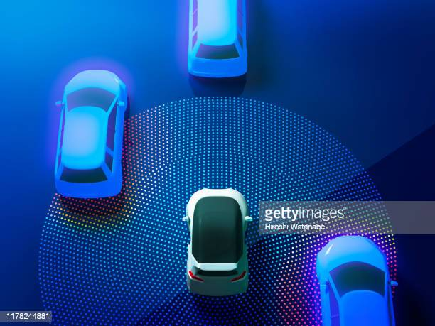 auto driving smart car image - driverless transport stock pictures, royalty-free photos & images