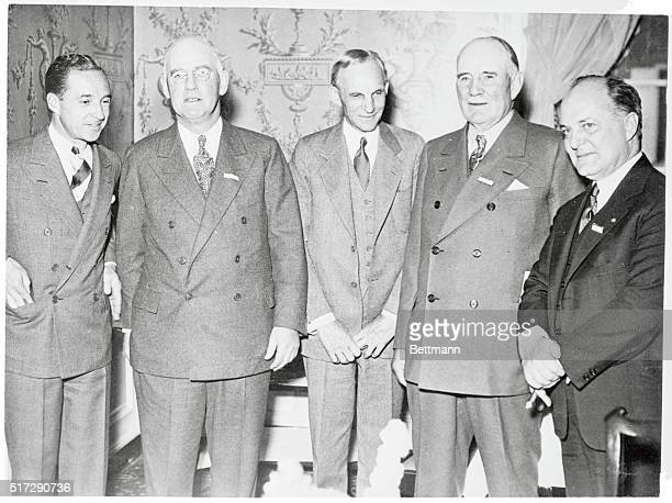 Auto Heads Meet at Dearborn. Dearborn, Michigan: Leaders of the auto industry, pictured at the Agriculture, Science, and Industry convention now...