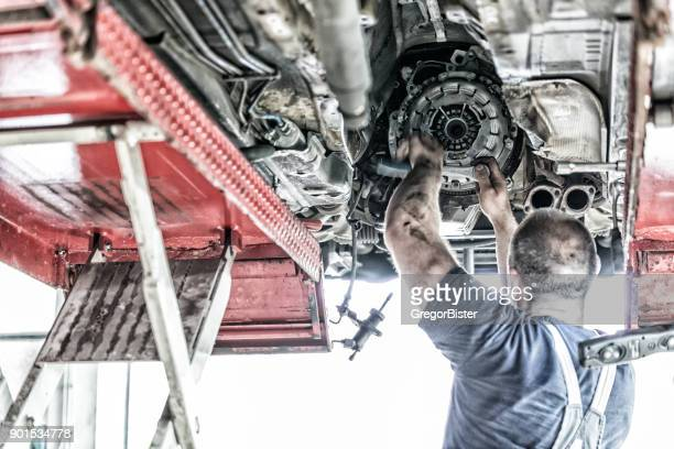 auto mechanic at work - grimes musician stock pictures, royalty-free photos & images