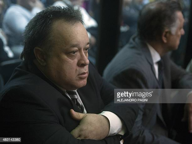 Auto mechanic Carlos Telleldin attends as defendant the first day of the trial on the 1994 AMIA bombing in Buenos Aires on August 6 2015 Former...