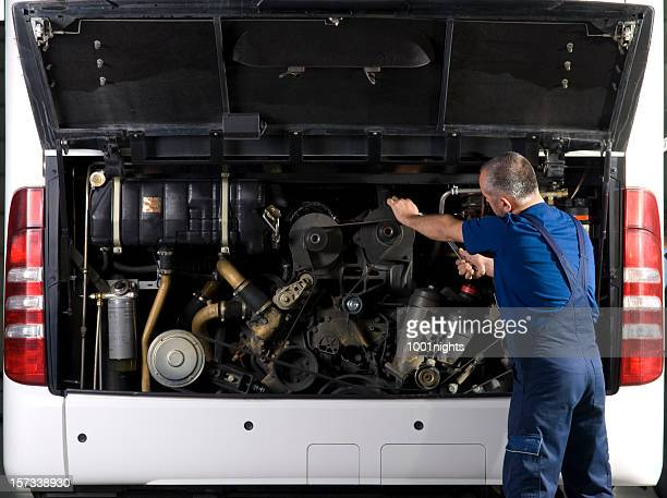 auto mechanic - bus stock photos and pictures