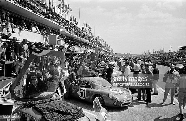 Auto Race the 24 Hours of Le Mans France in June 1963