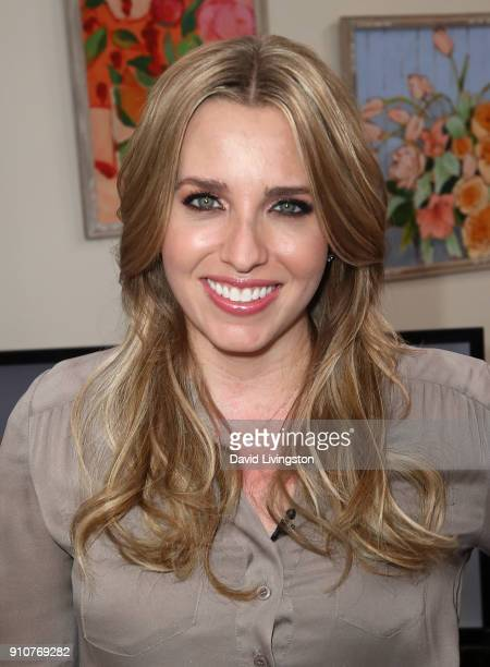 Auto racer Brittany Force visits Hallmark's Home Family at Universal Studios Hollywood on January 26 2018 in Universal City California