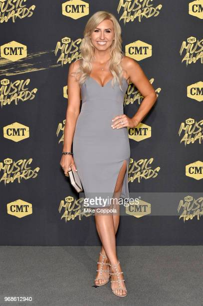 Auto racer Courtney Force attends the 2018 CMT Music Awards at Bridgestone Arena on June 6 2018 in Nashville Tennessee