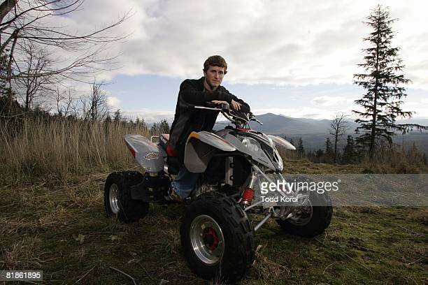 Auto Racing Casual portrait of NASCAR driver Kasey Kahne on All Terrain Vehicles ATV Enumclaw WA