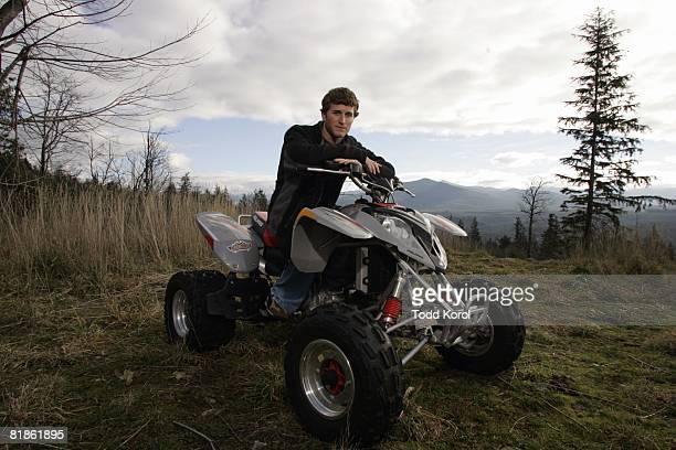 Auto Racing Casual portrait of NASCAR driver Kasey Kahne on All Terrain Vehicles ATV Enumclaw WA