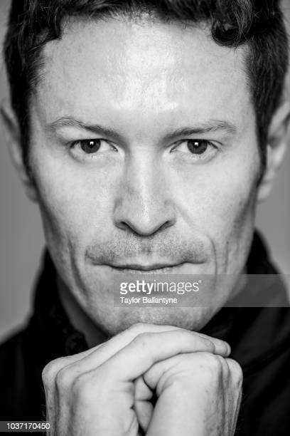 Closeup portrait of IndyCar driver Scott Dixon of Chip Ganassi Racing Teams posing during photo shoot at Meredith Photo Studios New York NY CREDIT...