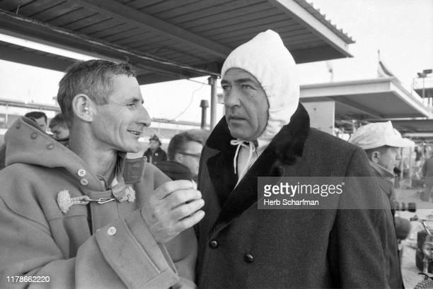 Daytona 24 Hours: Ken Miles and Carroll Shelby before race at Daytona International Speedway. Daytona, FL 2/5/1966 CREDIT: Herb Scharfman