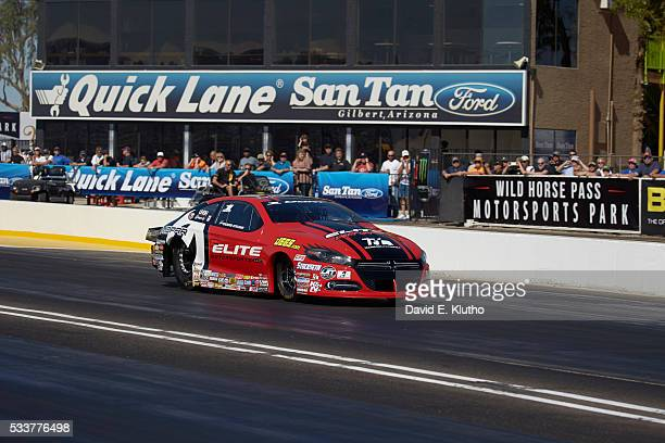Erica Enders in action during race at Wild Horse Pass Motorsports Park In 2014 Enders became the first woman to win the NHRA Pro Stock championship...