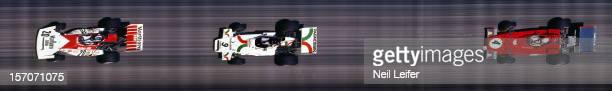 French Grand Prix Aerial view of JeanPierre Beltoise Andrea de Adamich and Arturo Merzario in action at Circuit Paul Ricard Strip Camera Le Castellet...