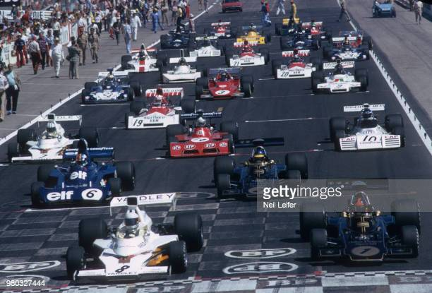 French Grand Prix View of drivers in cars and in position for start of race race at Circuit Paul Ricard Le Castellet France 6/4/1973 CREDIT Neil...