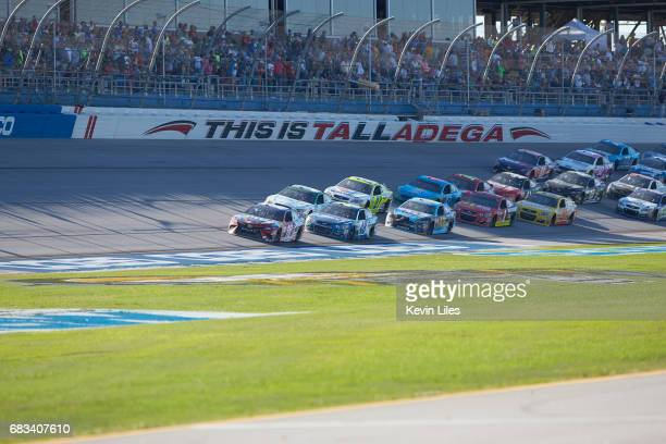 GEICO 500 Kyle Busch in action leading during race at Talladega Superspeedway Monster Energy NASCAR Cup Series Lincoln AL CREDIT Kevin Liles