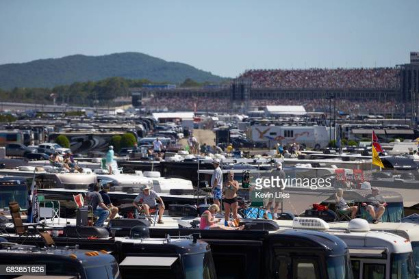 GEICO 500 View of fans on top of trailers before race from infield at Talladega Superspeedway Monster Energy NASCAR Cup Series Lincoln AL CREDIT...