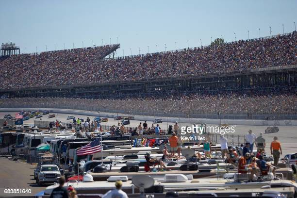 GEICO 500 View of fans on top of trailers watching race from infield at Talladega Superspeedway Monster Energy NASCAR Cup Series Lincoln AL CREDIT...