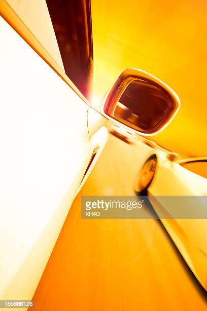 Course automobile de soleil
