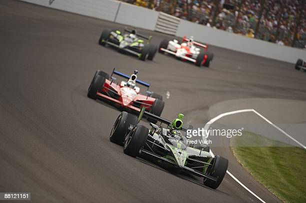 Indycar 93rd Indianapolis 500 Scott Sharp Of Tequila Patron Panther Racing In Action During Race At
