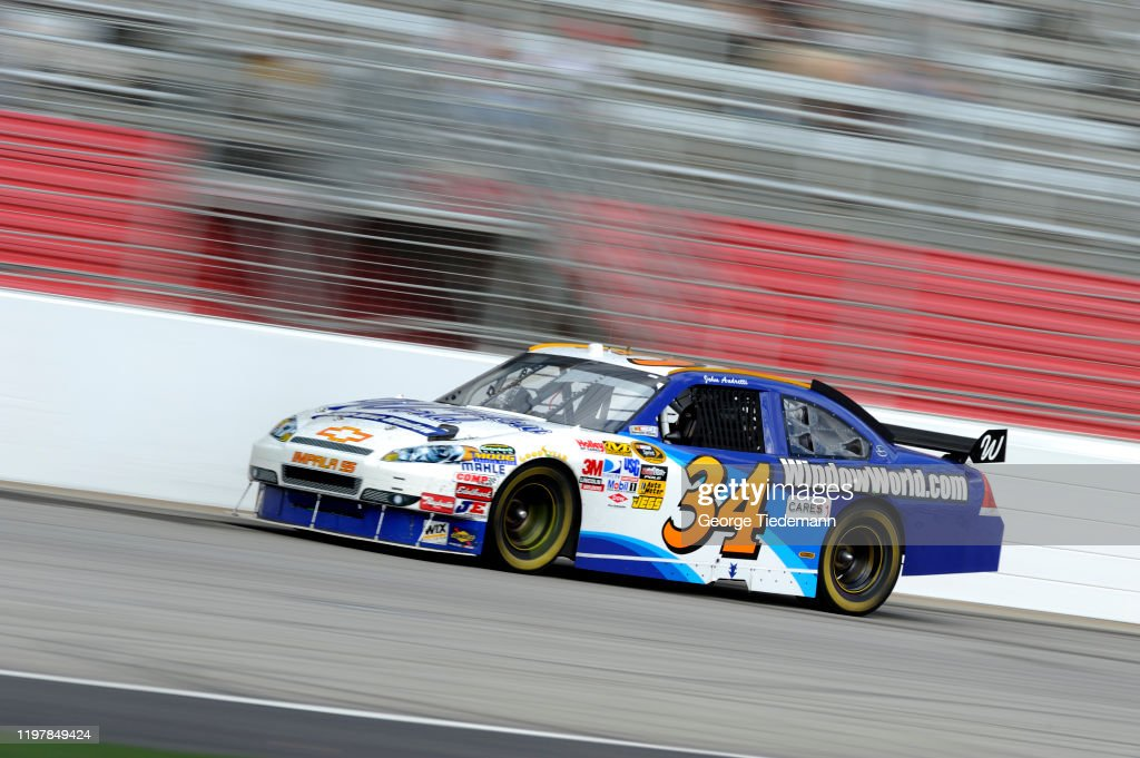 John Andretti in action during race at Atlanta Motor Speedway ...
