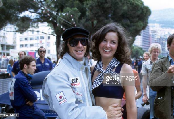 Monaco Grand Prix Tyrell Ford Jackie Stewart with friend during race at Circuit de Monaco Monte Carlo Monaco 6/3/1973 CREDIT Neil Leifer