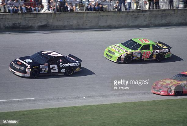 NASCAR Daytona 500 Dale Earnhardt in action vs Dale Jarrett during race at Daytona International Speedway Daytona FL 2/14/1993 CREDIT Bill Frakes