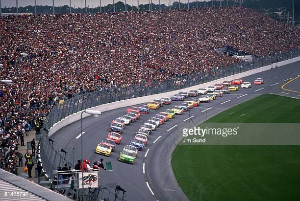 Auto Racing NASCAR Daytona 500 Miscellaneous action at start of race View of Daytona International stadium Daytona FL 2/15/1998