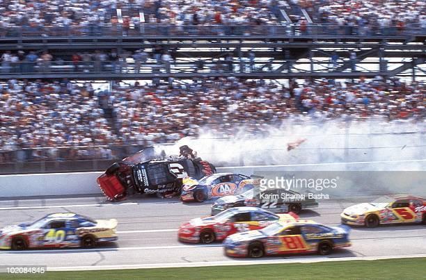 NASCAR DieHard 500 Dale Earnhardt in action during crash with Kyle Petty and Bill Elliott at Talladega Superspeedway Talladega AL 4/26/1998 CREDIT...
