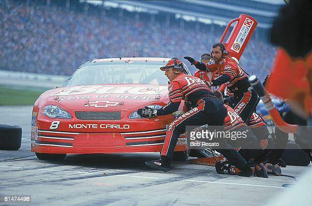 Auto Racing NASCAR DirecTV 500 Dale Earnhardt Jr during pit stop at Texas Motor Speedway Fort Worth TX 4/2/2000