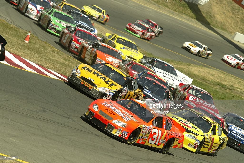 NASCAR Dodge/Save Mart 350, Robby Gordon (31) In Action At Infineon